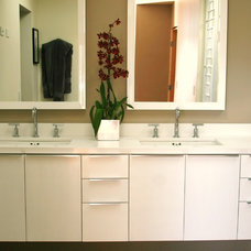 contemporary bathroom by J&C Cabinets
