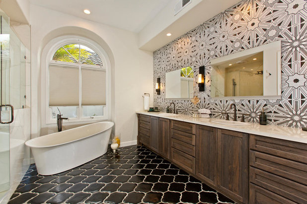 Room Of The Day Art Deco Tile Dazzles In A Master Bathroom
