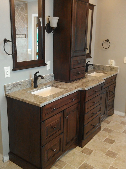 Best richmond bathroom and cloakroom with brown cabinets for Bathroom design richmond