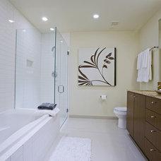 Contemporary Bathroom by Pilar Calleja - Draw The Line Design