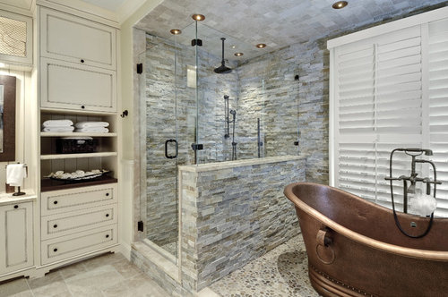 Install Faux Rock Panels In The Shower