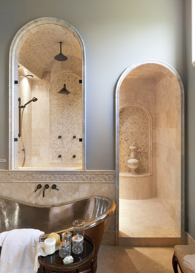 American Traditional Bathroom by Christopher Scott Homes