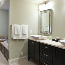 transitional bathroom by Dream House Studios