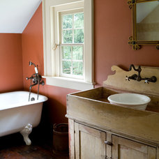 Rustic Bathroom by Peter Zimmerman Architects