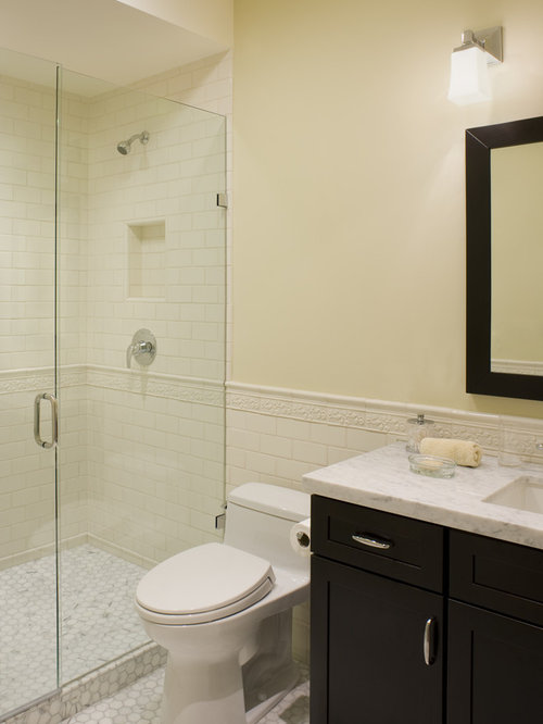 example of a trendy bathroom design in san francisco with marble