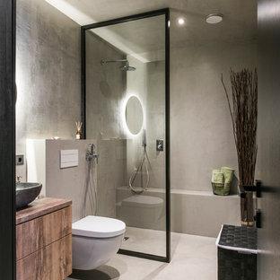 Salle d\'eau avec béton au sol : Photos et idées déco de salles d\'eau