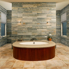 Transitional Bathroom by Laurence Cafritz Builders