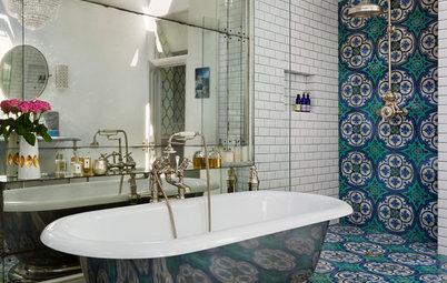Ugens rum: Et klassisk badeværelse udsmykket med fantastiske fliser