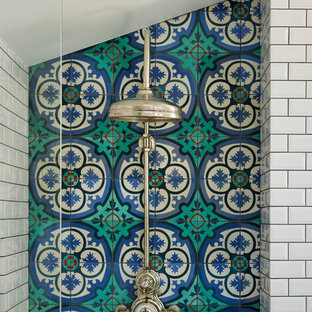 Inspiration for a large victorian family bathroom in London.