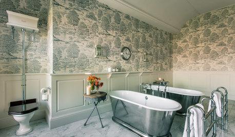 Så skapar du ett klassiskt romantiskt badrum med brittiska influenser