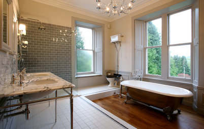 Room of the Day: Space and Stunning Views in a Luxe Scottish Bath