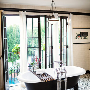 Example of a large tuscan bathroom design in Los Angeles