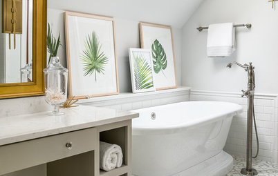 A Master Bath With a Checkered Past Is Now Bathed in Elegance