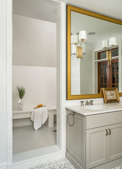 Fabulous Transitional Bathroom by Designstorms LLC