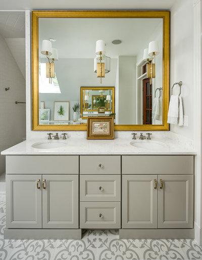 Transitional Bathroom by Designstorms LLC