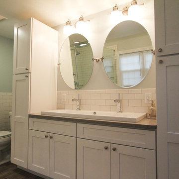 Dual Vanity with Trough Sink
