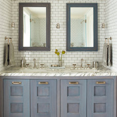 Transitional Bathroom by Damon Liss Design