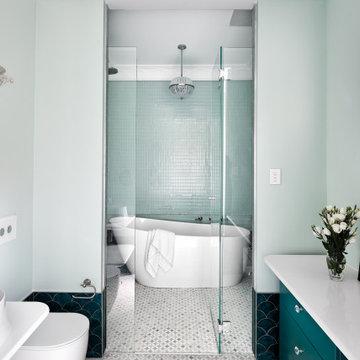 Dudley St Bathroom project by Brooke Aitken Design