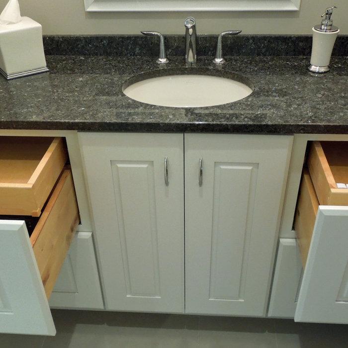 Sparkling Symmetrical New Bathroom