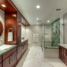 Contemporary Bathroom by Granitech Inc