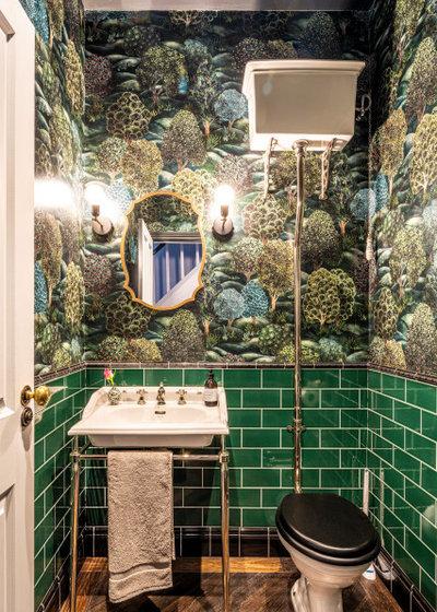 Неоклассика Ванная комната by Aflux Designs