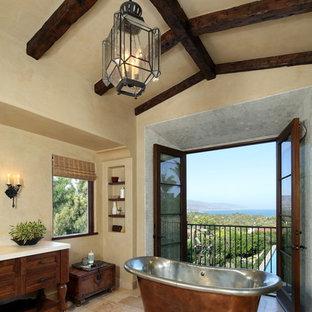 Freestanding bathtub - mediterranean freestanding bathtub idea in Los Angeles