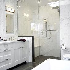 Transitional Bathroom by Corey Klassen Interior Design