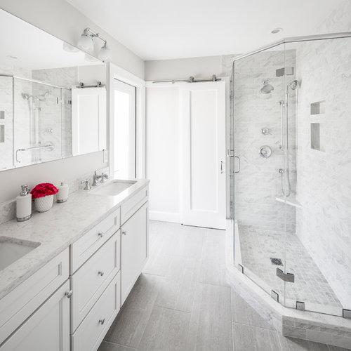 Salle d\'eau avec un sol en vinyl : Photos et idées déco de salles ...