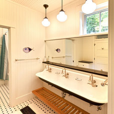 Farmhouse Bathroom by MAC Custom Homes