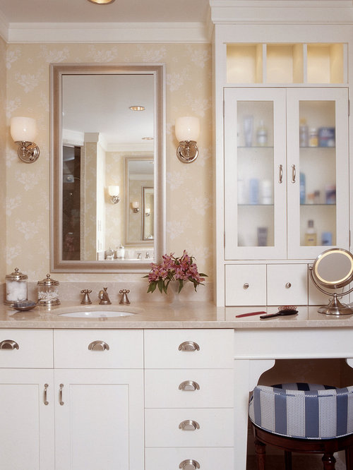 Dual Vanity With Makeup Counter Home Design Ideas Pictures Remodel And Decor