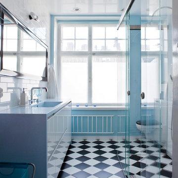 Durat Blue Bathroom Counter