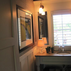 Transitional Bathroom by Dwellings