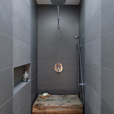 Industrial Bathroom by Dyna Contracting