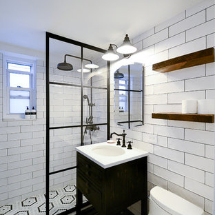 E 56th- Black & White Bathroom Remodel- Overview