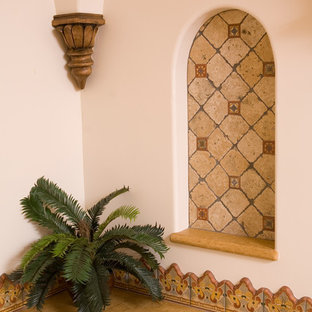 Example of a tuscan bathroom design in Orange County
