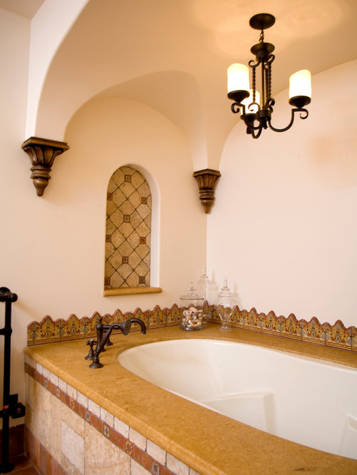 Spanish colonial california bathroom design ideas for Spanish colonial bathroom design
