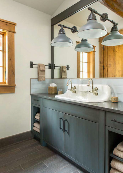 Rustic Bathroom by Vintage Woods and Metals