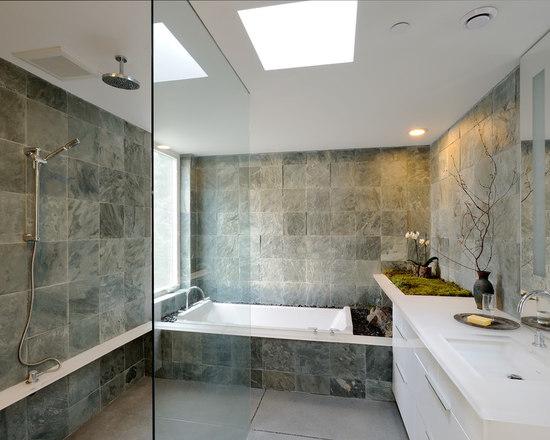 Slate Tile Bathroom Houzz