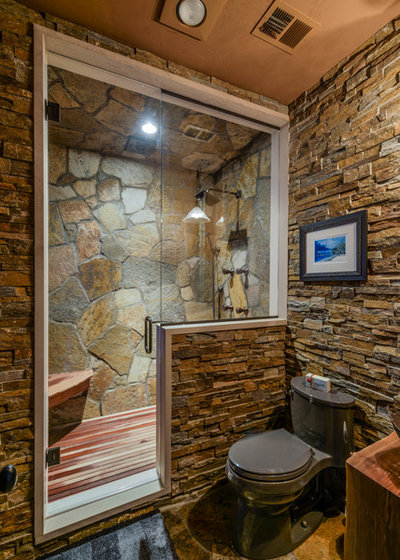 Rustic Bathroom by Werschay Homes
