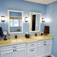 Beach Style Bathroom by Chester County Kitchen & Bath
