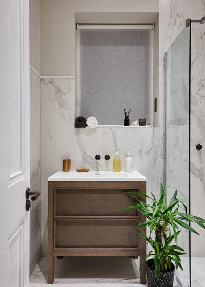 Midcentury Bathroom by Space Shack