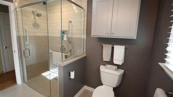 Earth Tone Universal Design Bathroom