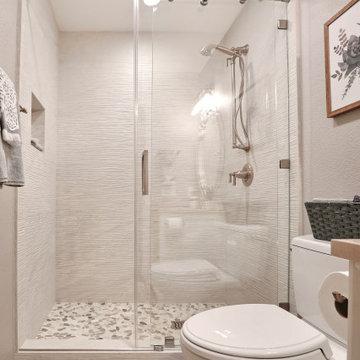 Earthy Chic Guest Bathroom