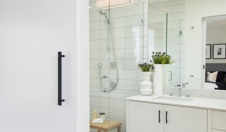 Medicine Cabinet Sliding Door Track how to add privacy to a bathroom barn door