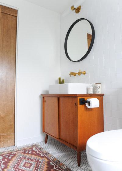 Midcentury Bathroom by mango design co