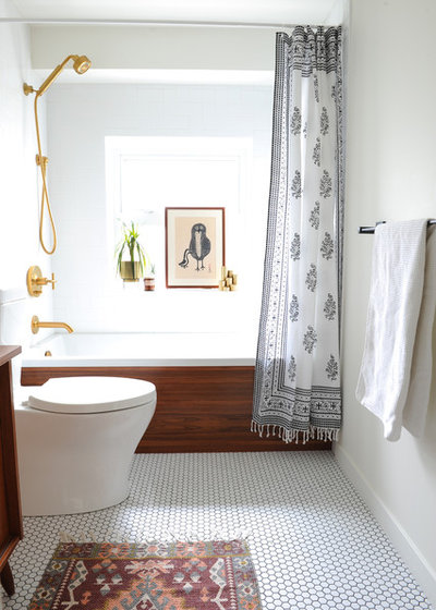 Midcentury Bathroom by mango design co