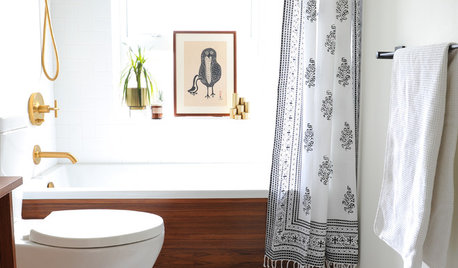 Trending Now: Touches of Black for the Bathroom
