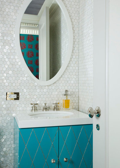 Transitional Bathroom by Philip Gorrivan Design