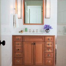 Transitional Bathroom by Adrienne Neff Design Services LLC