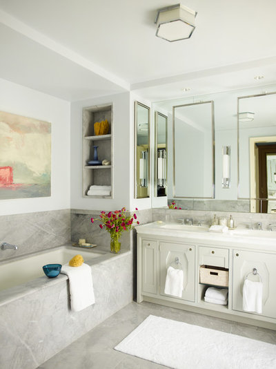 Good Transitional Bathroom by Mendelson Group